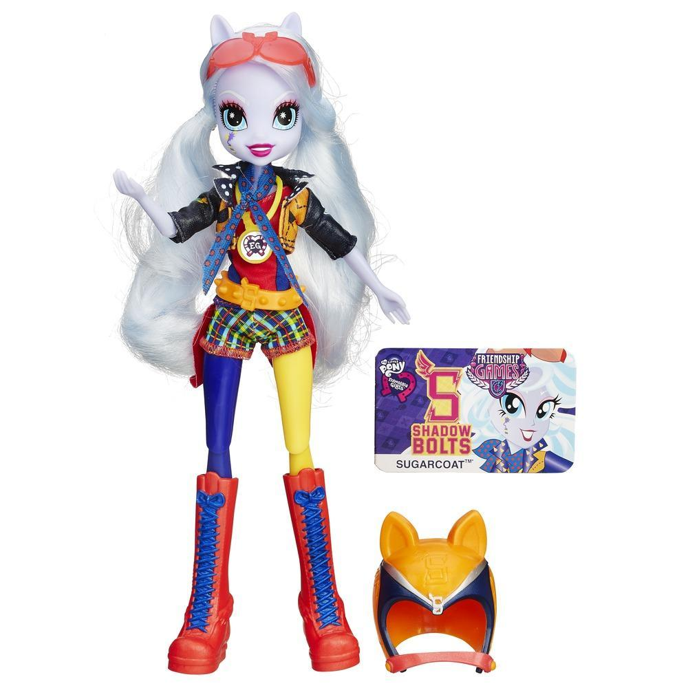 My Little Pony Equestria Girls - Boneca Sugarcoat estilo esportivo motocross