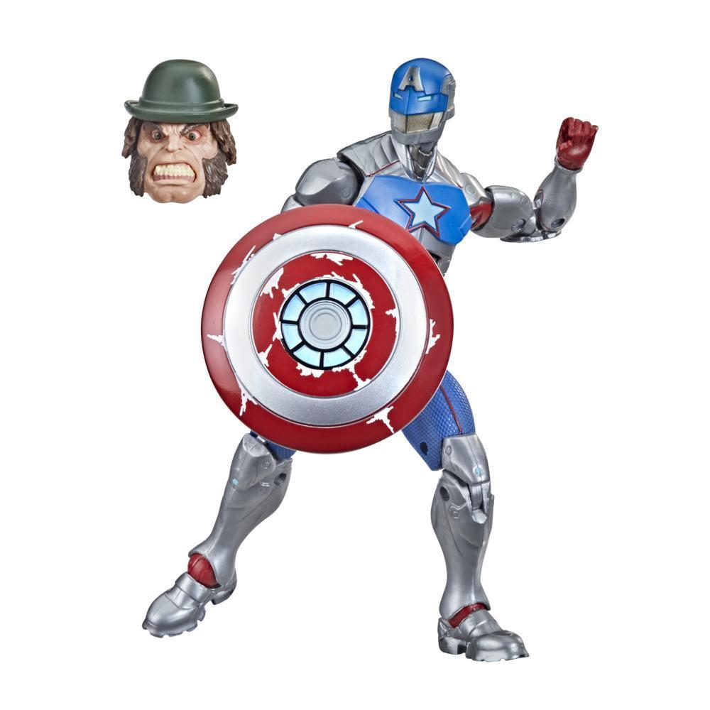 Hasbro Marvel Legends Series - Figura de 15 cm Civil Warrior com Escudo, a partir dos 4 anos