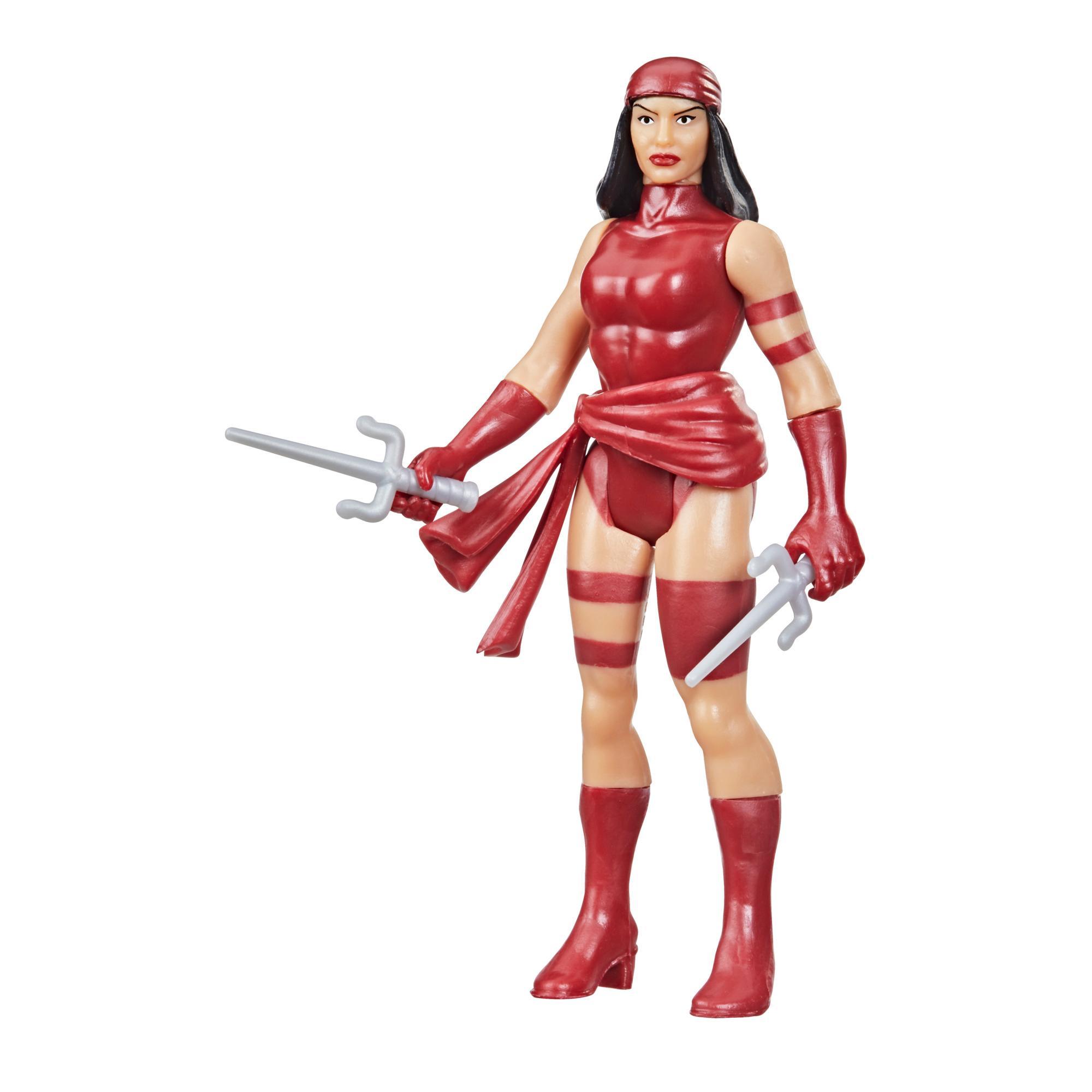 Hasbro Marvel Legends Retro 375 Collection Elektra Figura Brinquedo 9,5 cm