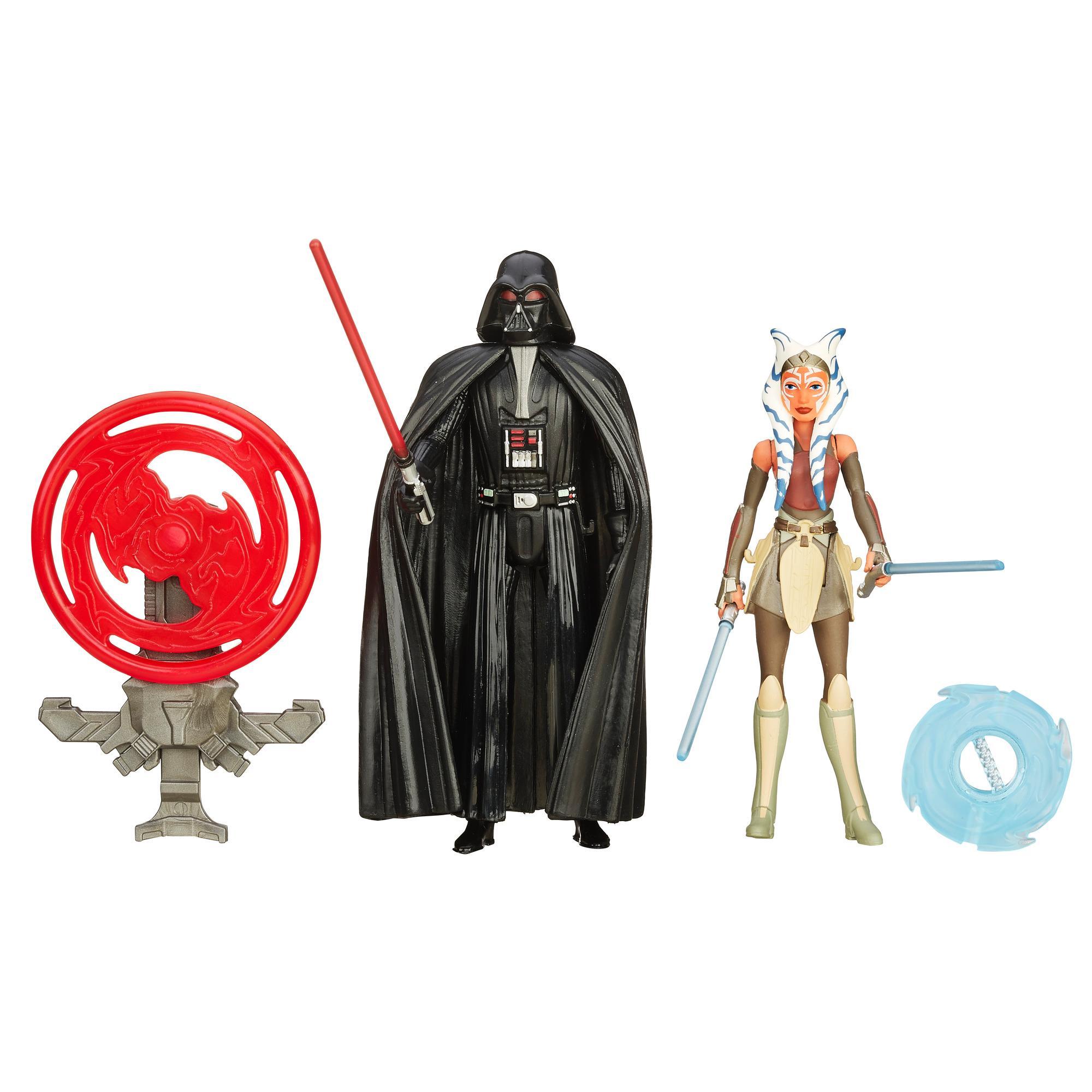 Star Wars Rebels - Kit Missão Espacial com 2 Figuras de 9,5 cm: Darth Vader e Ahsoka Tan
