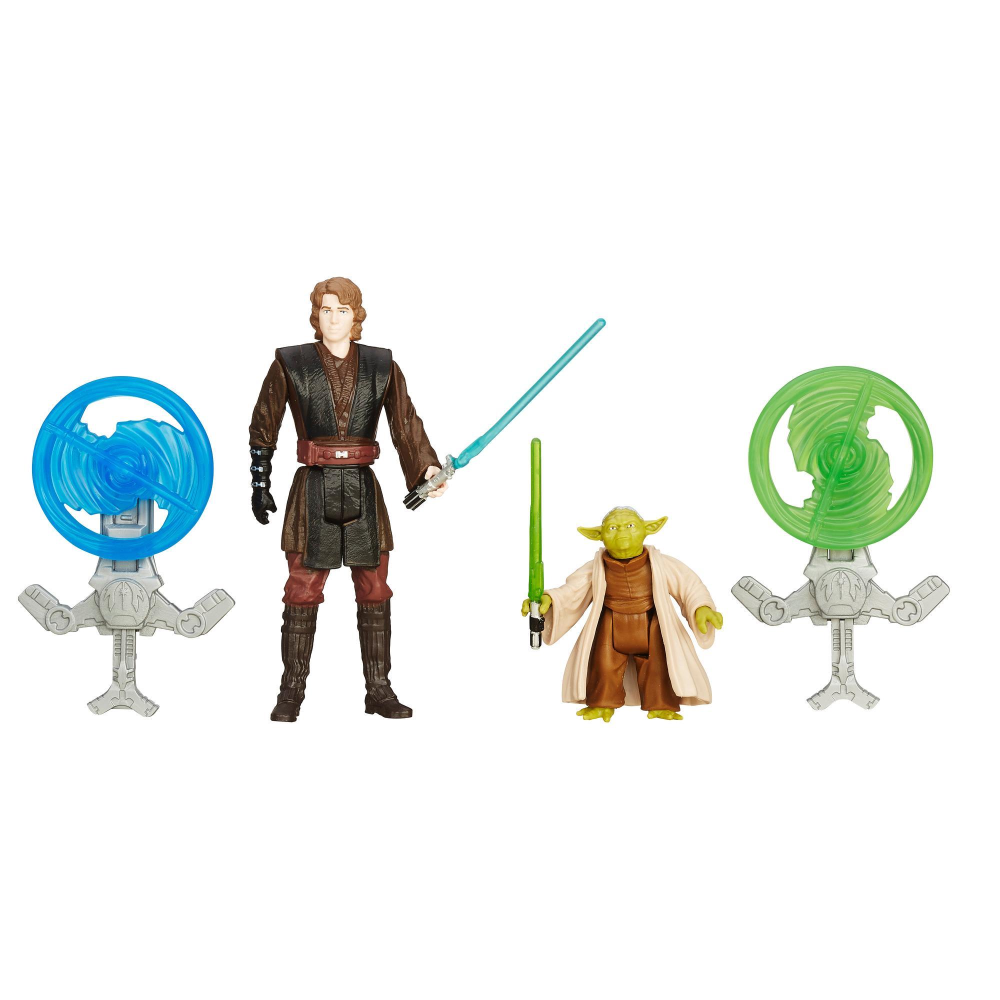 Star Wars A Vingança dos Sith - Kit Missão na Floresta com 2-Figuras de 9,5 cm: Anakin Skywalker e Yoda