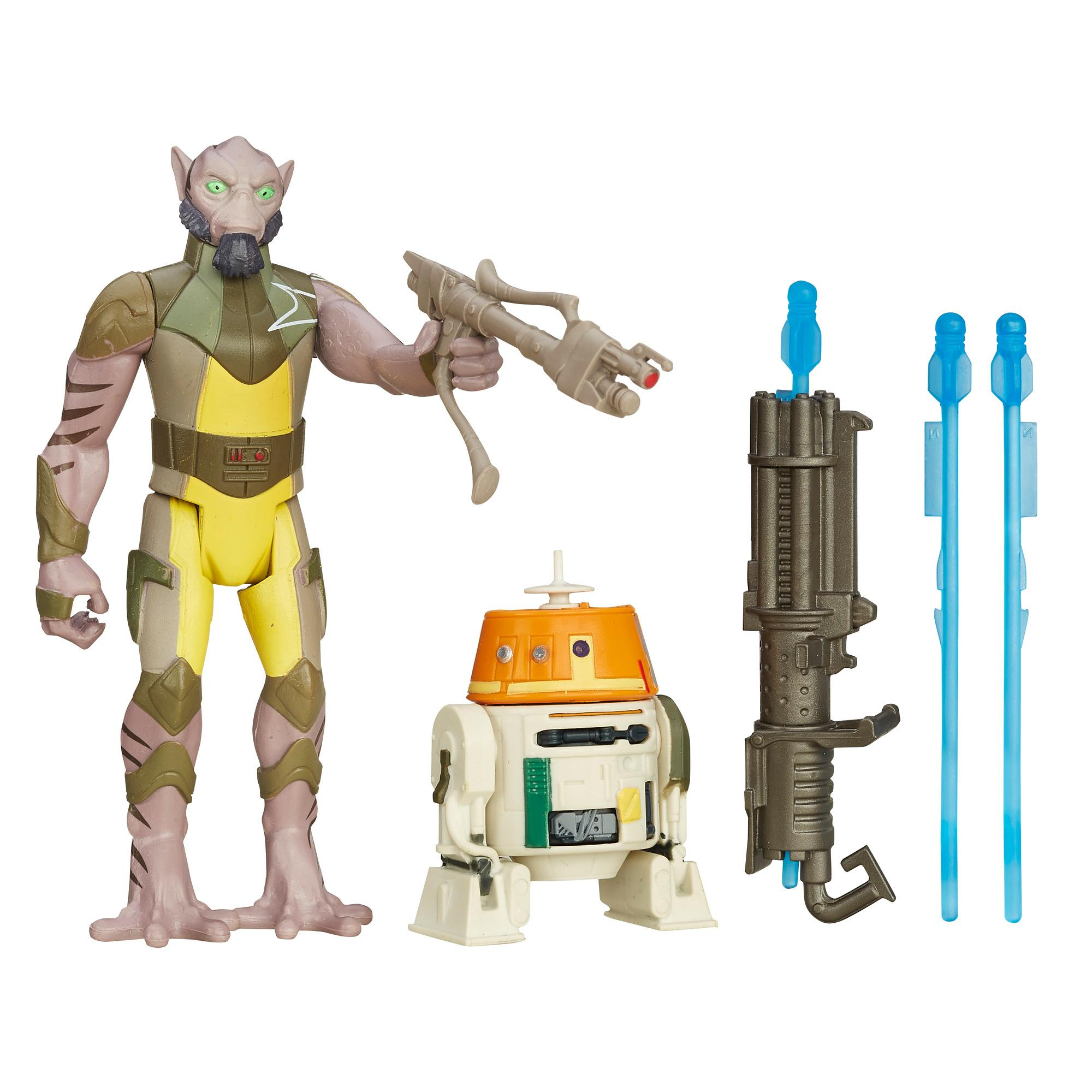 Star Wars Rebels - Kit Missão na Floresta com 2-Figuras de 9,5 cm: Garazeb Orrelios e C1-10P