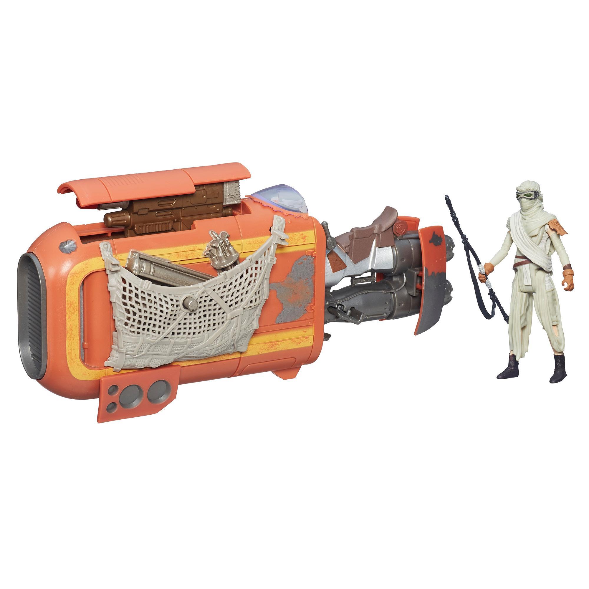 Star Wars O Despertar da Força Moto Speeder de Rey (Jakku) de 9,5 cm