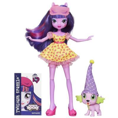 My Little Pony Equestria Girls Rainbow Rocks - Kit Twilight Sparkle e Spike o cachorrinho