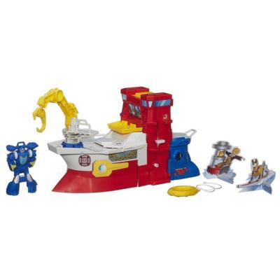 Heróis Playskool Transformers Rescue Bots - High Tide e Barco de Resgate