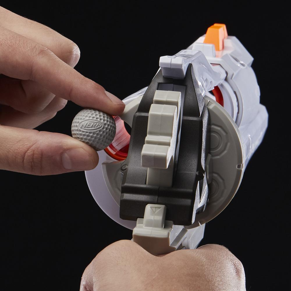 Overwatch McCree Nerf Rival - Lançador com Distintivo de Metal Fundido e 6 projéteis Overwatch Nerf Rival