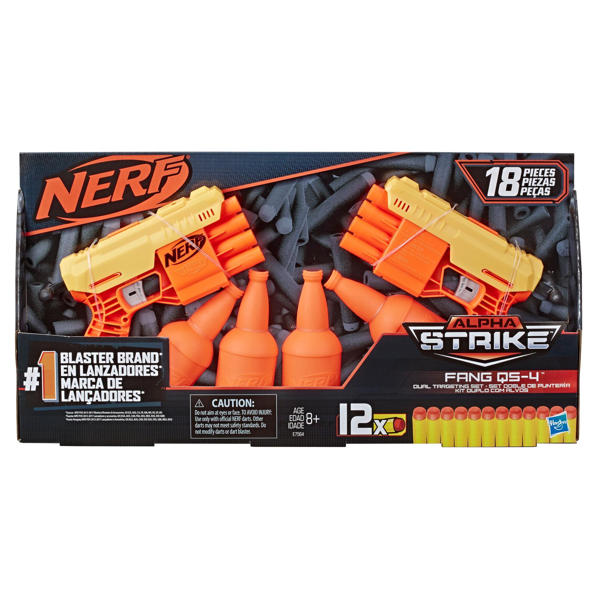 Kit Duplo de Treino Fang QS-4: O kit de 18 peças Nerf Alpha Strike