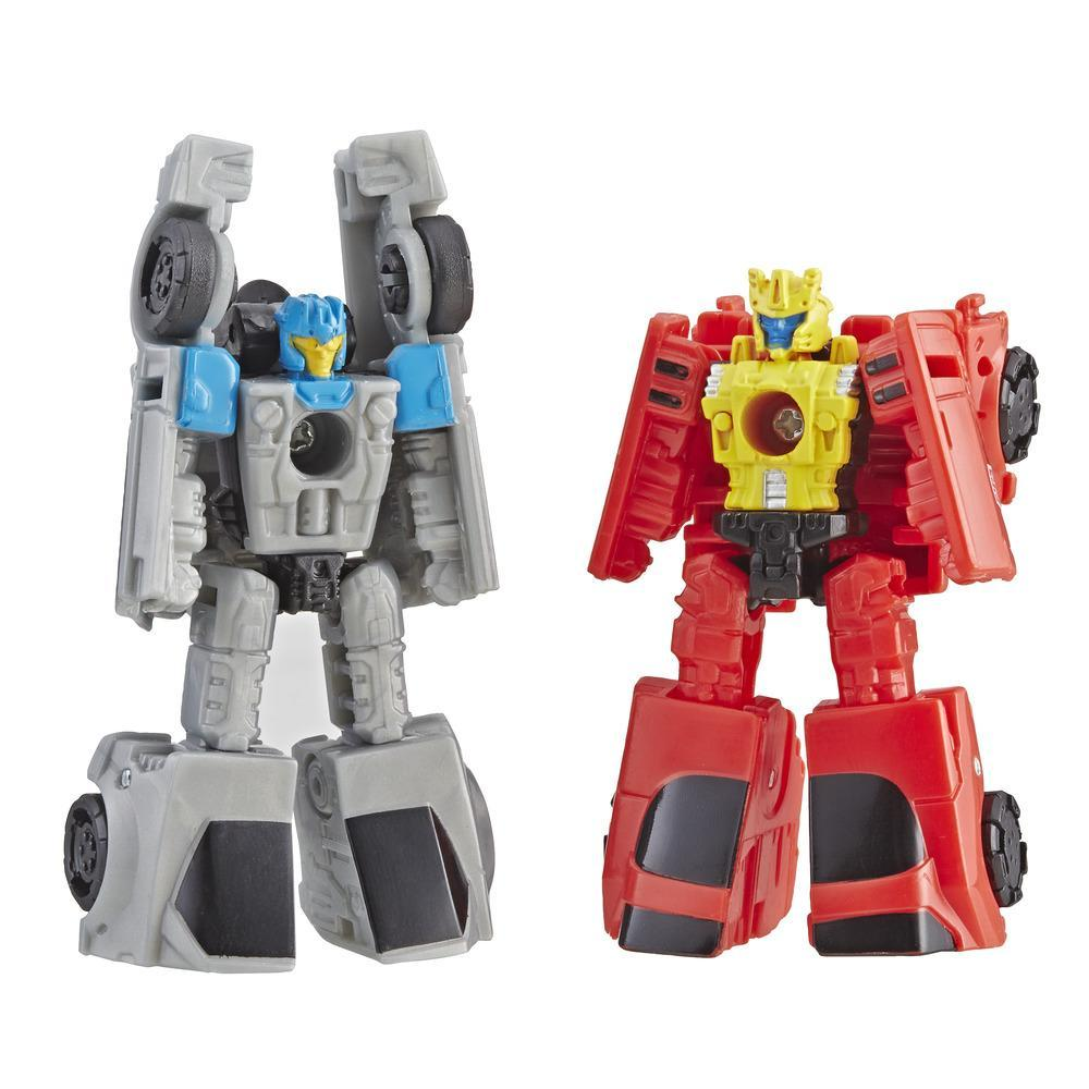 Transformers Generations War for Cybertron: Siege Micromaster - Kit com 2 Figuras de WFC-S4 Autobot Patrulha Terrestre