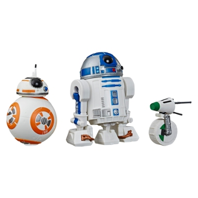 Star Wars Galaxy of Adventures Kit Triplo de droides com R2-D2, BB-8, D-O