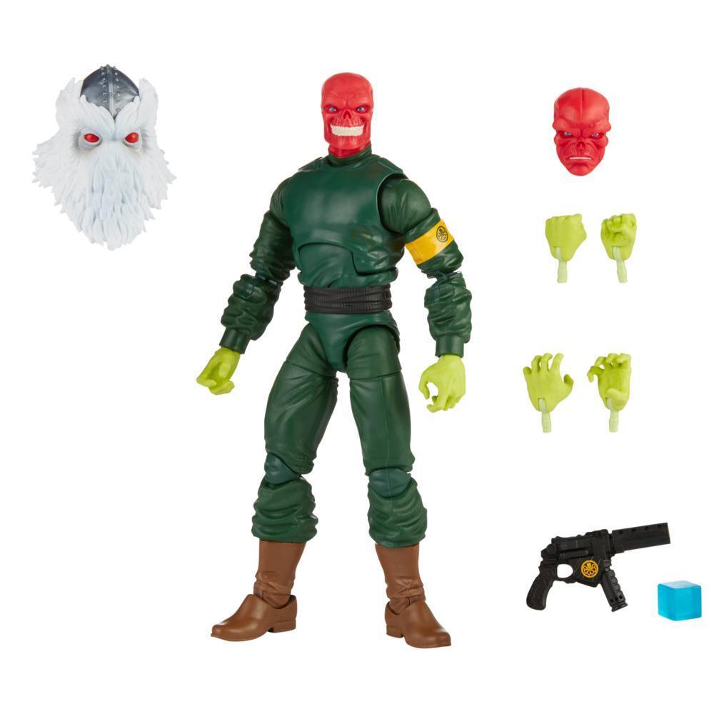Hasbro Marvel Legends Series - Red Skull de 15 cm, 7 Acessórios e 1 peça Build-a-Figure
