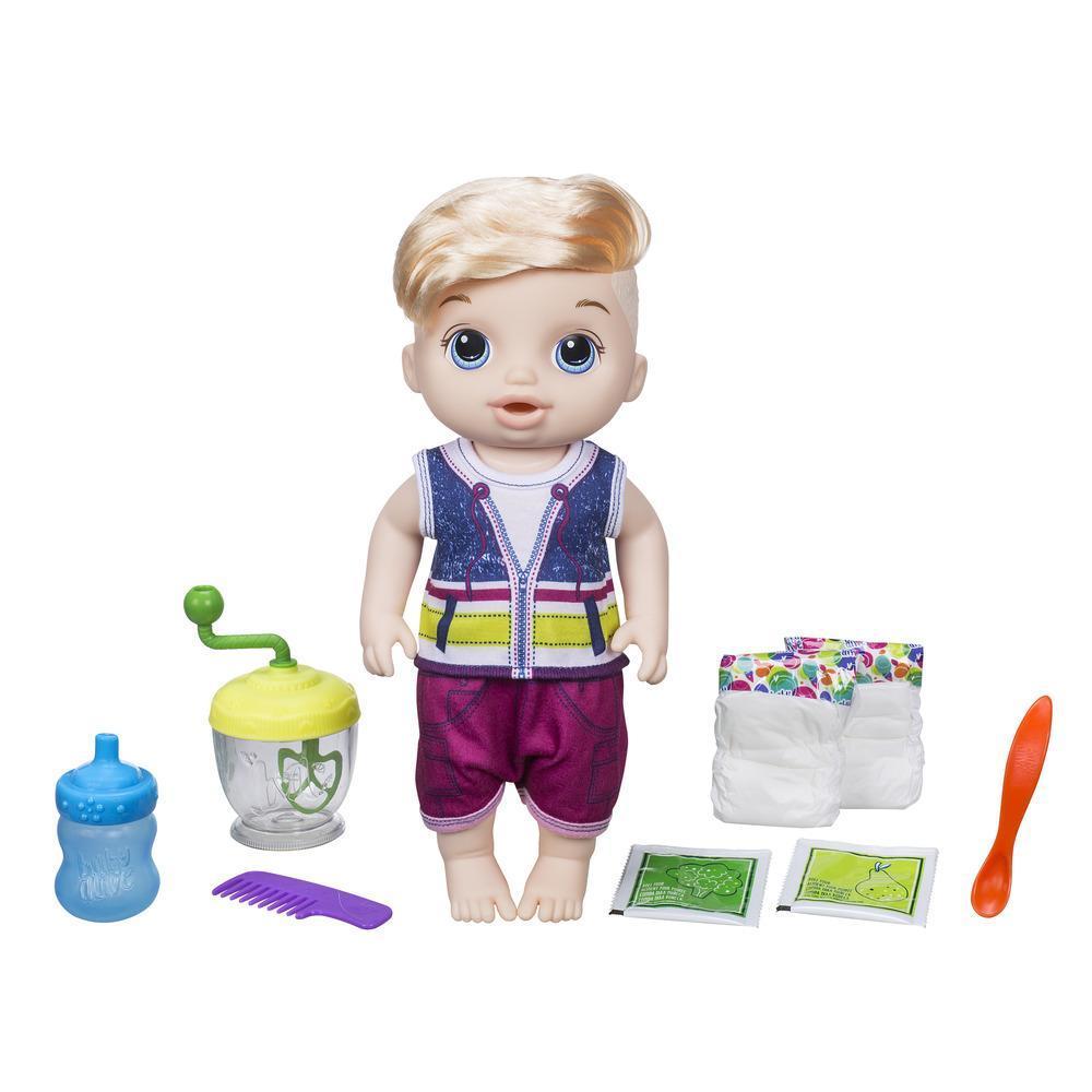 Boneca bebê loiro Papinha Divertida Baby Alive