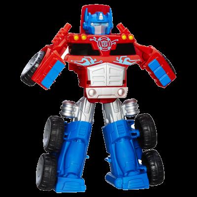 Conjunto Trailer Optimus Prime Transformers Rescue Bots