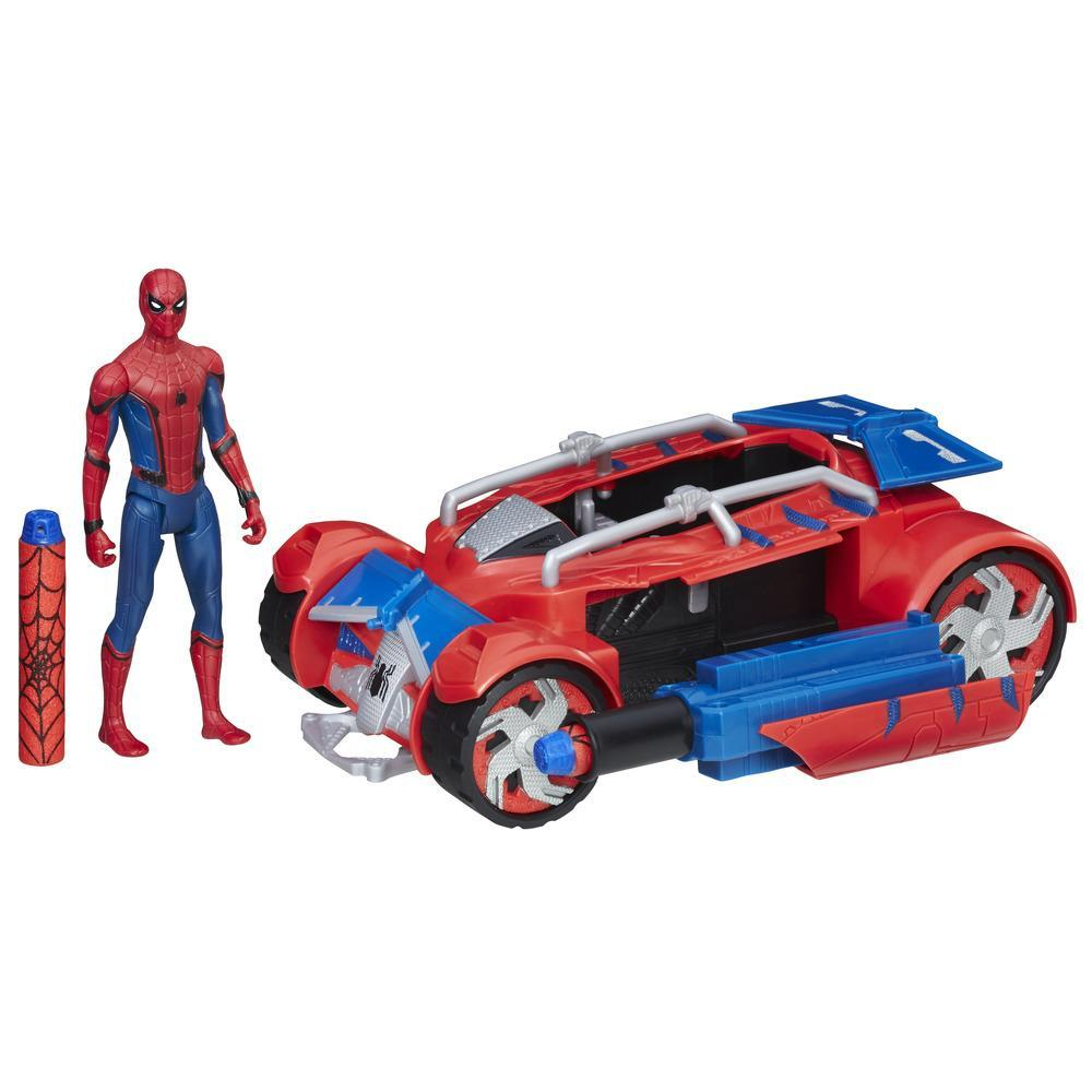 Spider-Man: Homecoming Spider-Man com carro-aranha