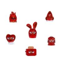 Hanazuki 6 Tesouros e Hemka Vermelho Enérgico (Coleção 1)