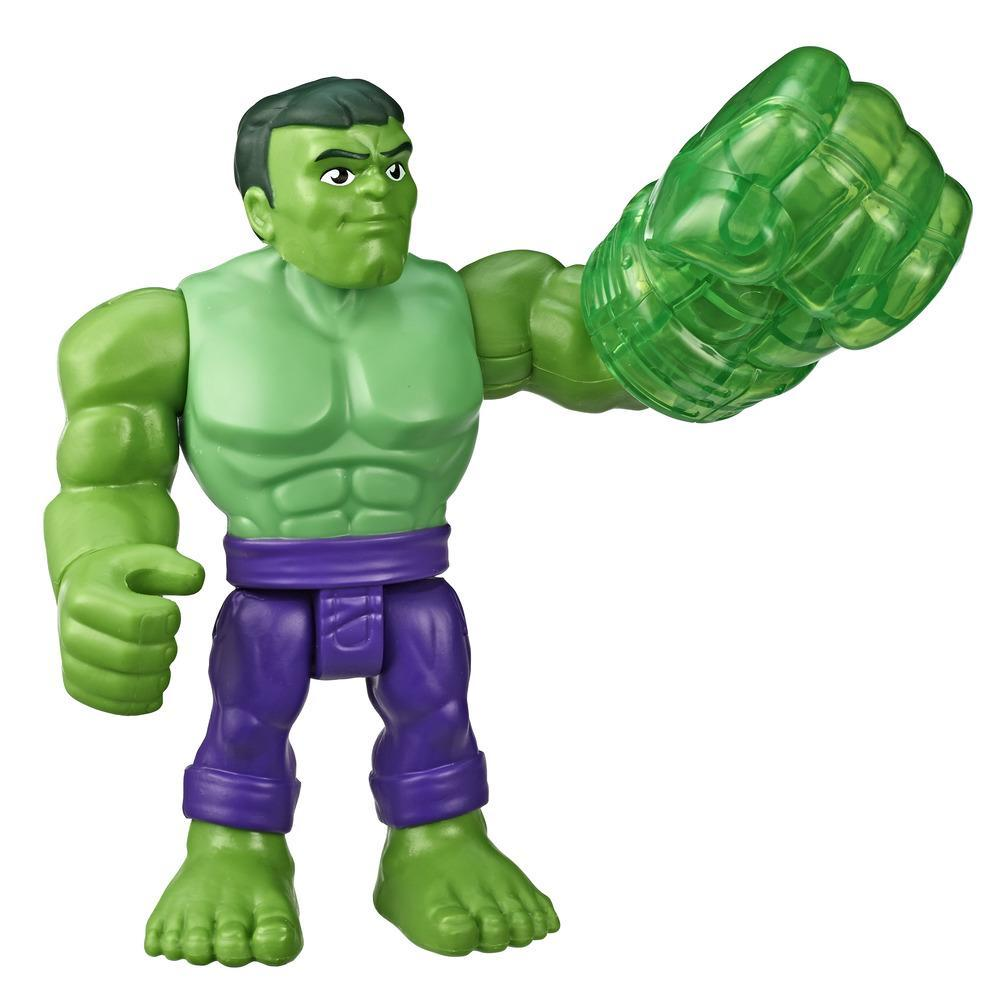 Playskool Heroes Marvel Super Hero Adventures Hulk - Figura de 12,5 cm com acessório de punho gama, Brinquedos para crianças acima de 3 anos