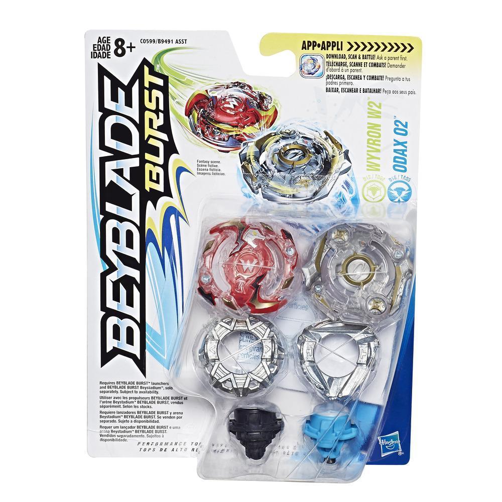 Beyblade Burst Kit Duplo - Wyvron W2 e Odax O2