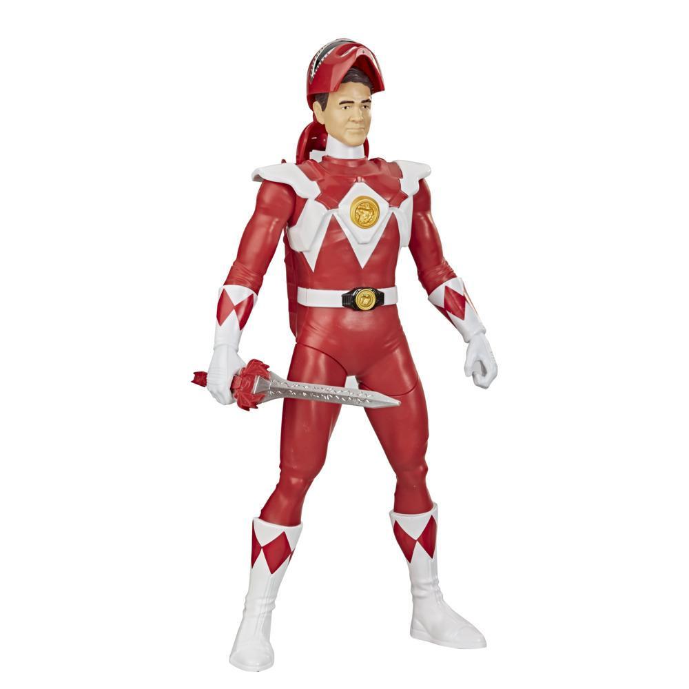 Power Rangers Mighty Morphin Power Rangers - Ranger Vermelho Morphin Hero - Figura de Ação Brinquedo de 30 cm