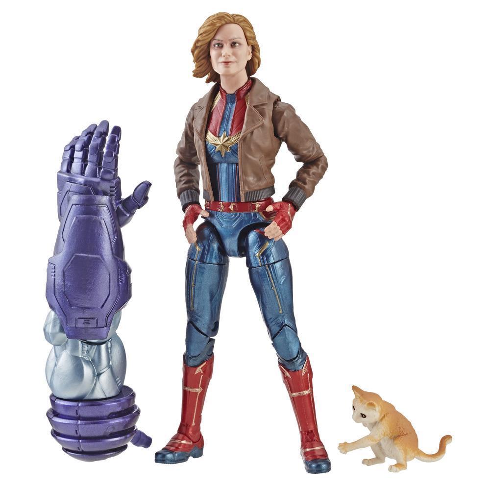 Marvel Legends - Figura da Capitã Marvel de 15 cm com jaqueta para crianças e fãs