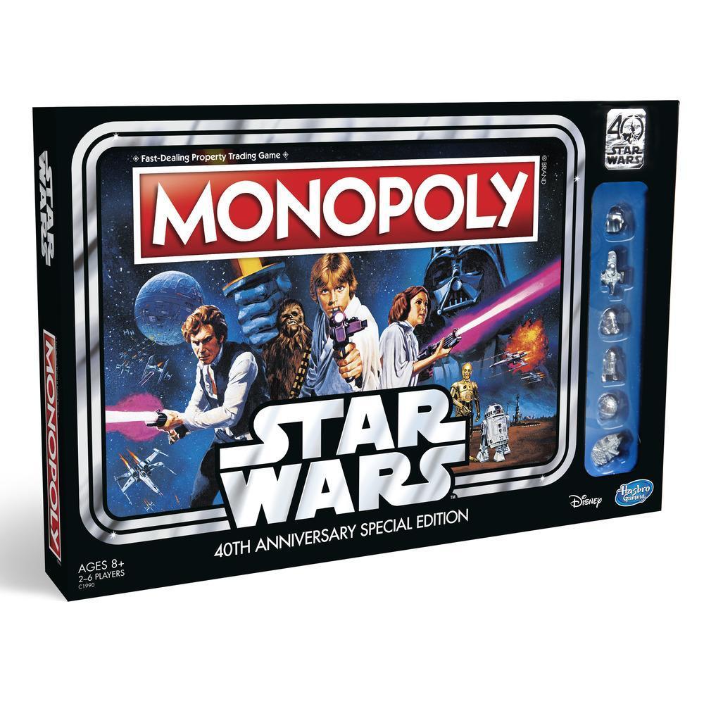 Jogo Monopoly: Edição Especial de 40 Anos de Star Wars