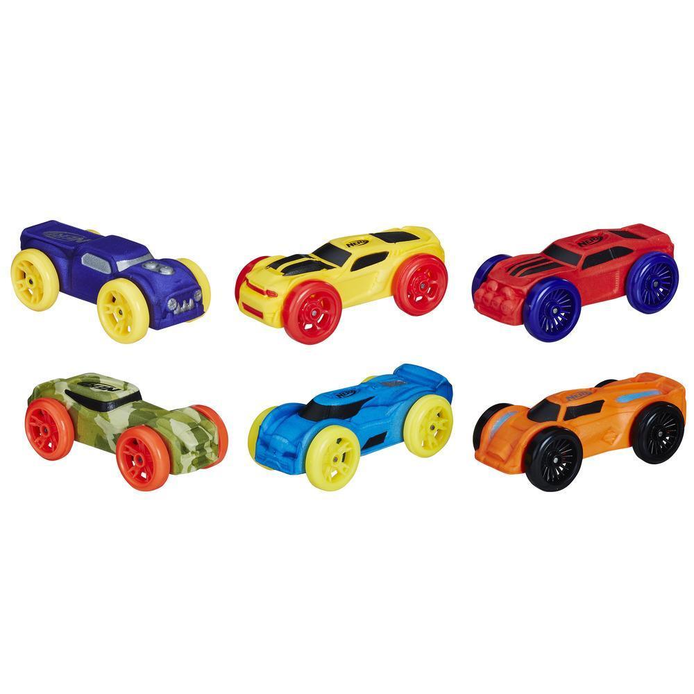 6 Carros de Espuma Nerf Nitro (Versão 3)