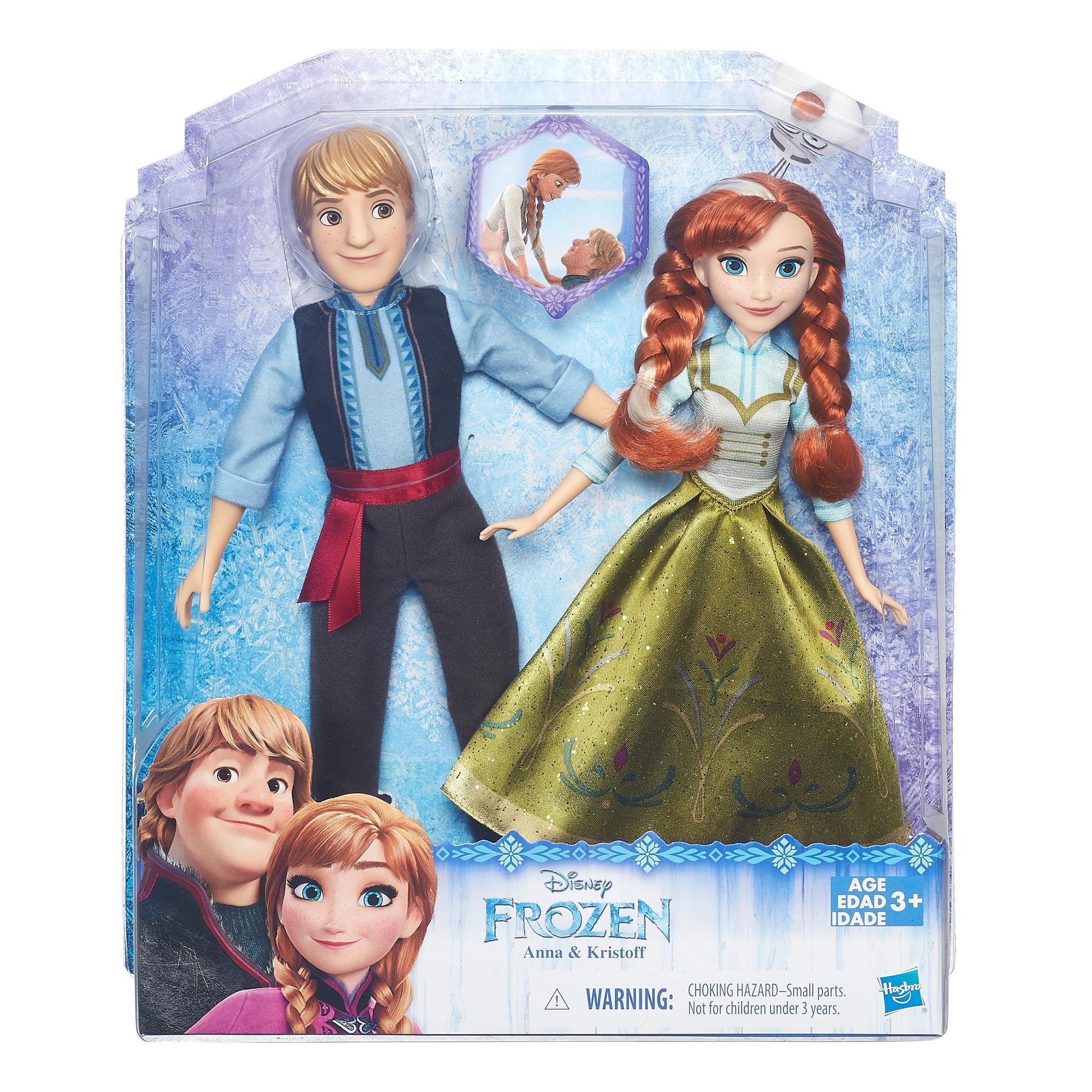 Bonecos Frozen Anna e Kristoff
