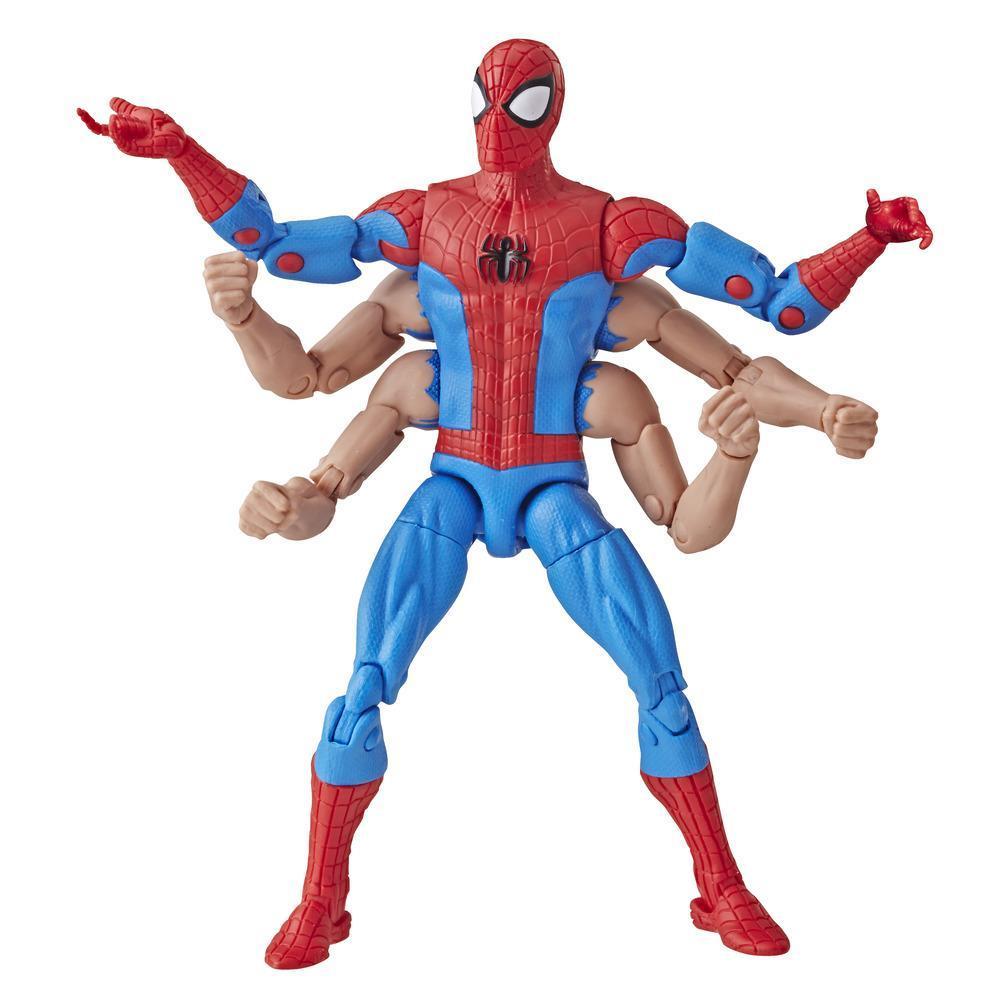 Spider-Man Série Legends - Homem-Aranha de 15 cm com seis braços