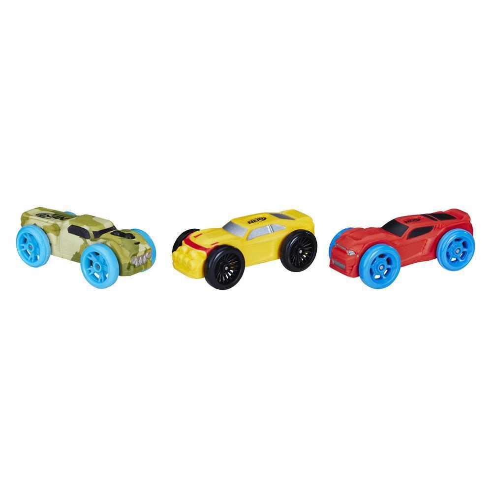 3 Carros de Espuma Nerf Nitro (Versão 7)