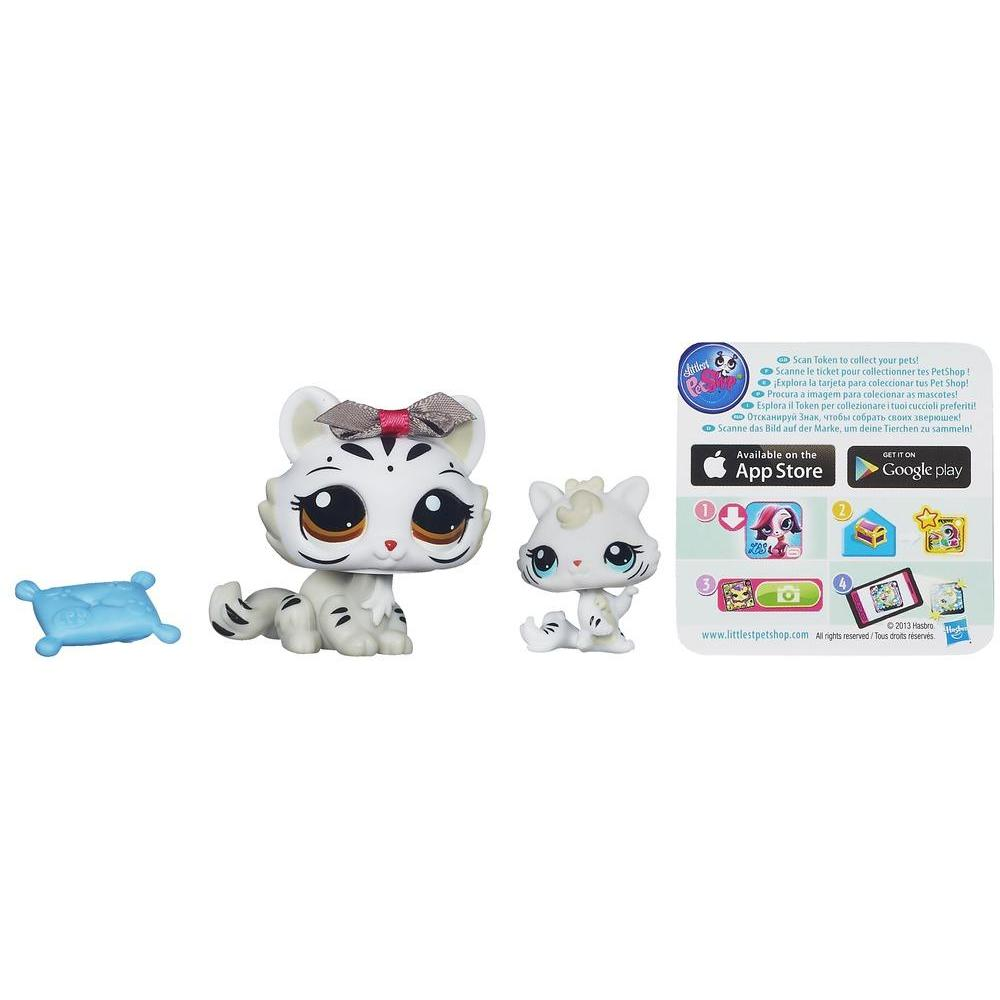 Littlest Pet Shop Favorite Pets - Tigresa branca e tigrinho