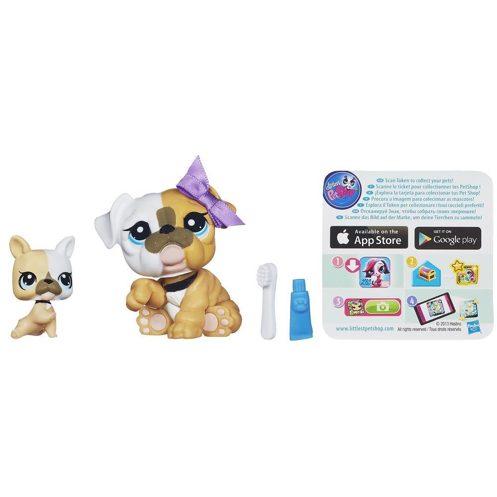 Littlest Pet Shop Favorite Pets - Buldogue e cachorrinho