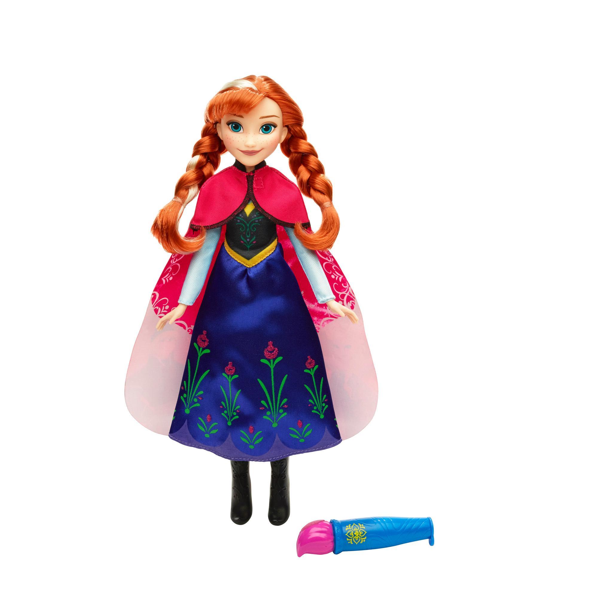 Boneca Vestido Mágico Frozen Anna