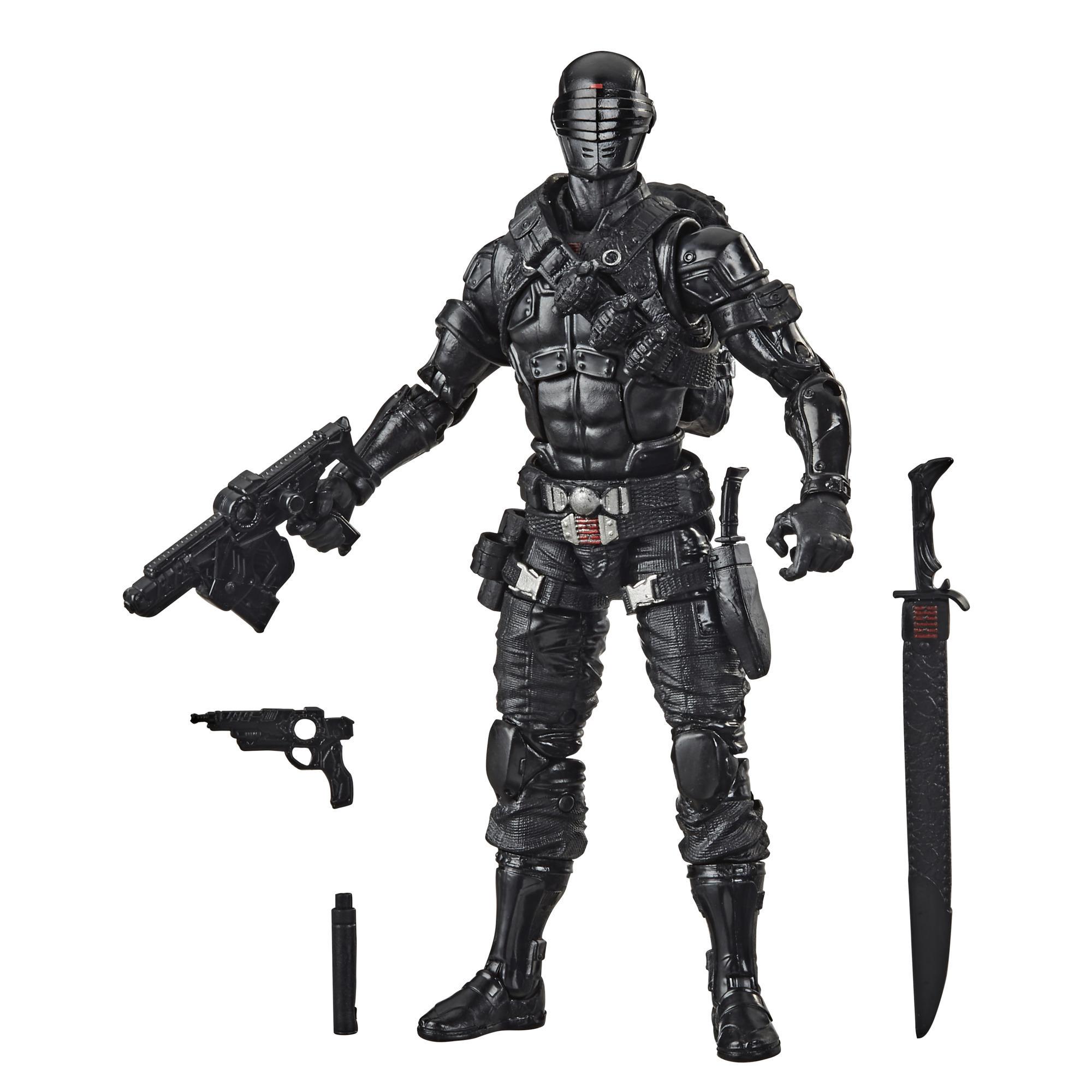 Contém: G.I. JOE Classified Series Snake Eyes Figura Brinquedo com múltiplos acessórios