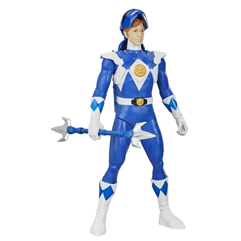 Power Rangers Mighty Morphin Power Rangers - Ranger Azul Morphin Hero - Figura de Ação Brinquedo de 30 cm