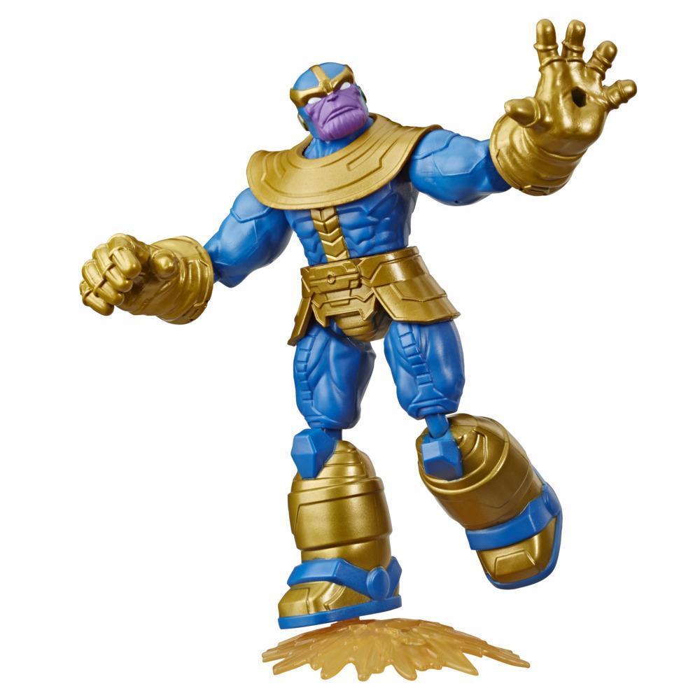 Marvel Vingadores Bend and Flex Figura Brinquedo, 15 cm figura Thanos flexível, inclui acessório, para crianças acima de 6 anos