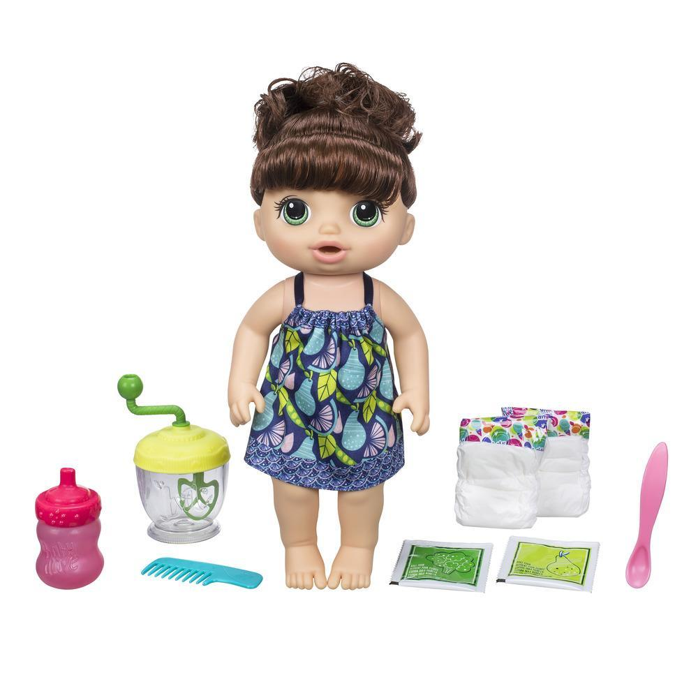 Baby Alive - Boneca Papinha Divertida - Menina (cabelo castanho encaracolado)