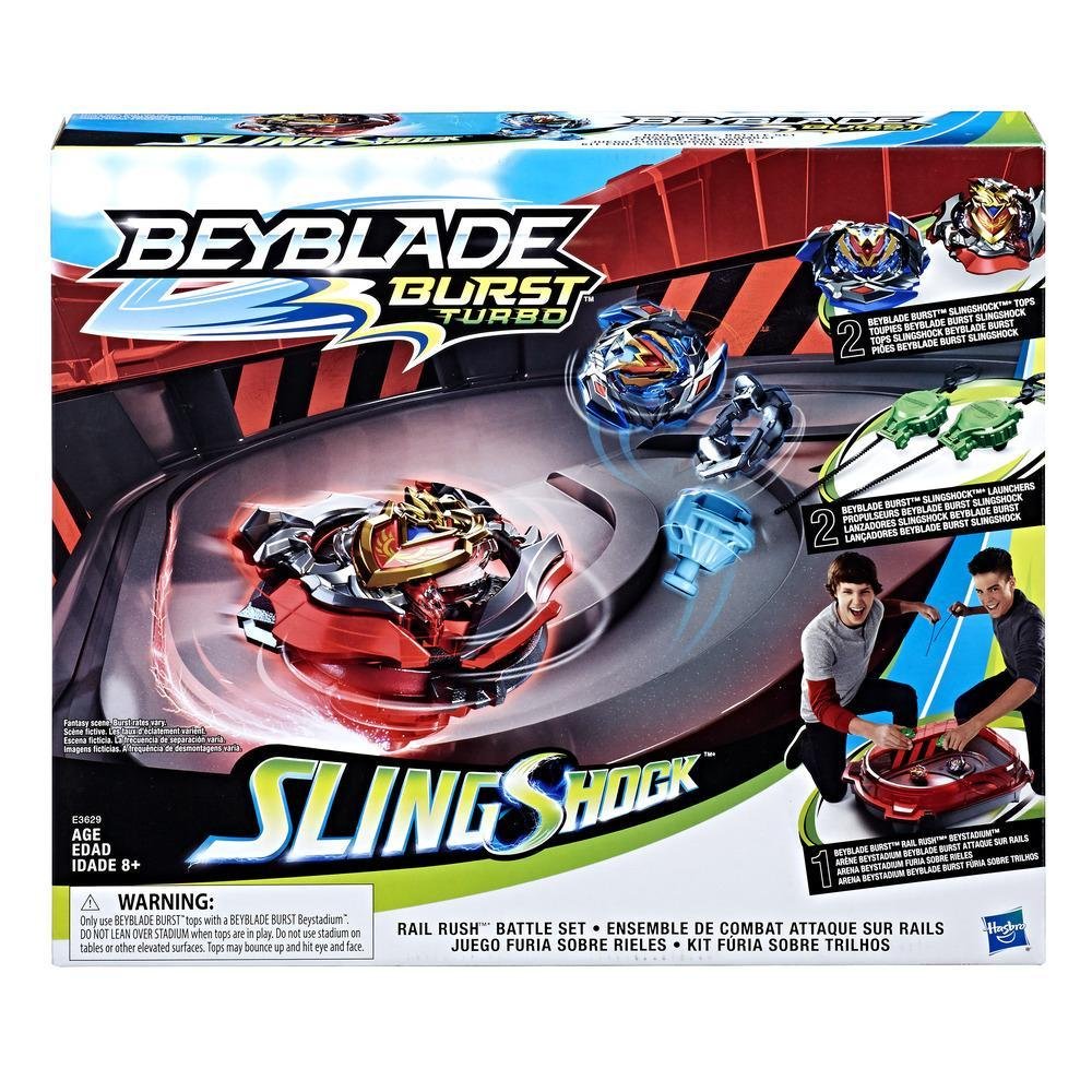 Beyblade Burst Turbo Slingshock - Kit de Batalha Rail Rush