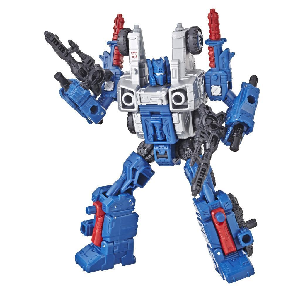Transformers Generations War for Cybertron: Siege Classe Deluxe - Figura Weaponizer de WFC-S8 Cog