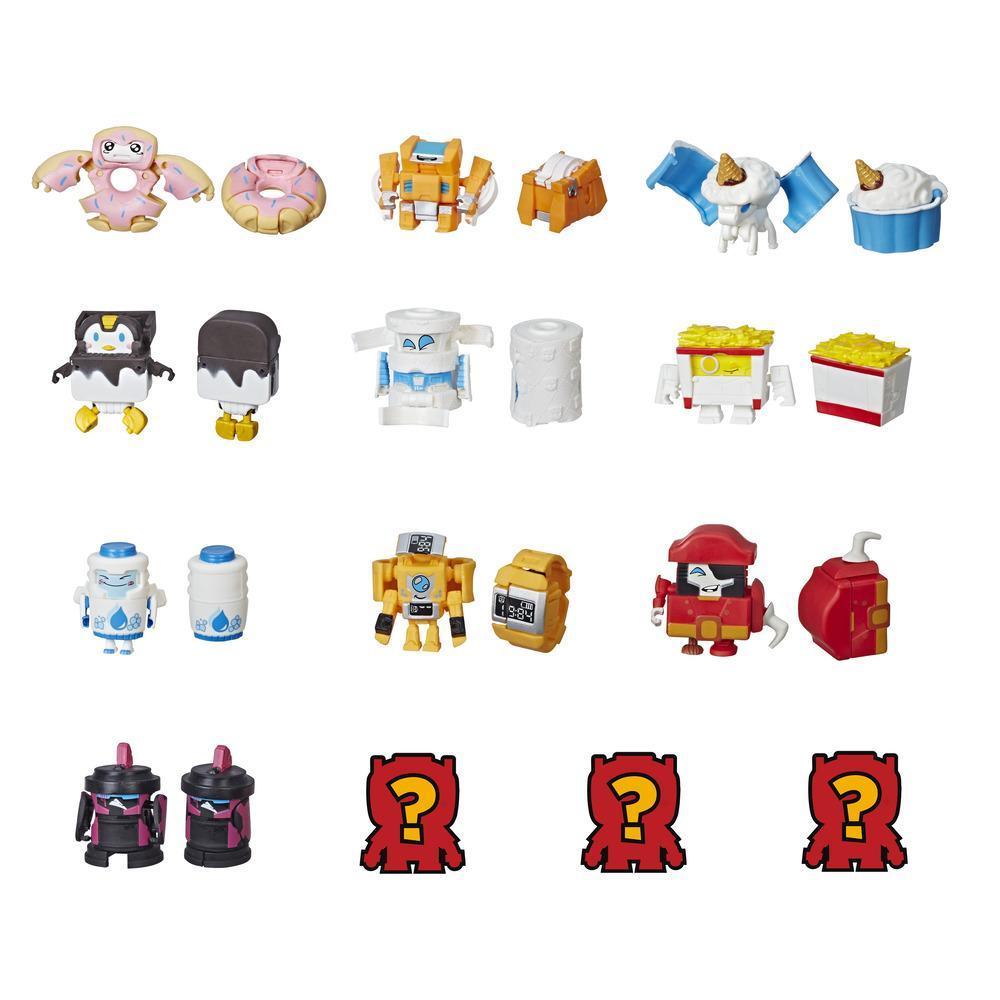 Transformers BotBots Série 1 Esquadrão da Limpeza - Kit com 5 Brinquedos 2 em 1 Surpresa