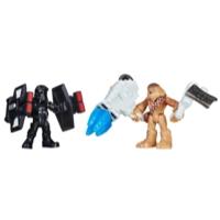 Star Wars Galactic Heroes - Chewbacca e Piloto TIE da Primeira Ordem