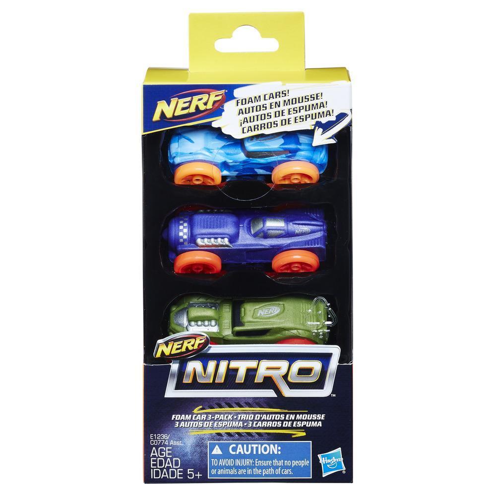 3 Carros de Espuma Nerf Nitro (Versão 8)