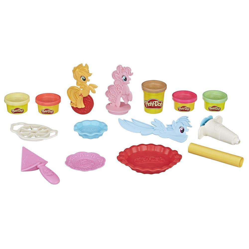 Play-Doh My Little Pony - Kit Tortas de Ponyville com 5 cores de Play-Doh