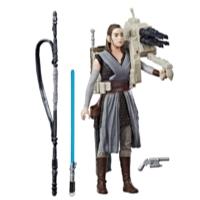 Kit Duplo Star Wars Rey (Treinamento Jedi) e guarda pretoriano de elite