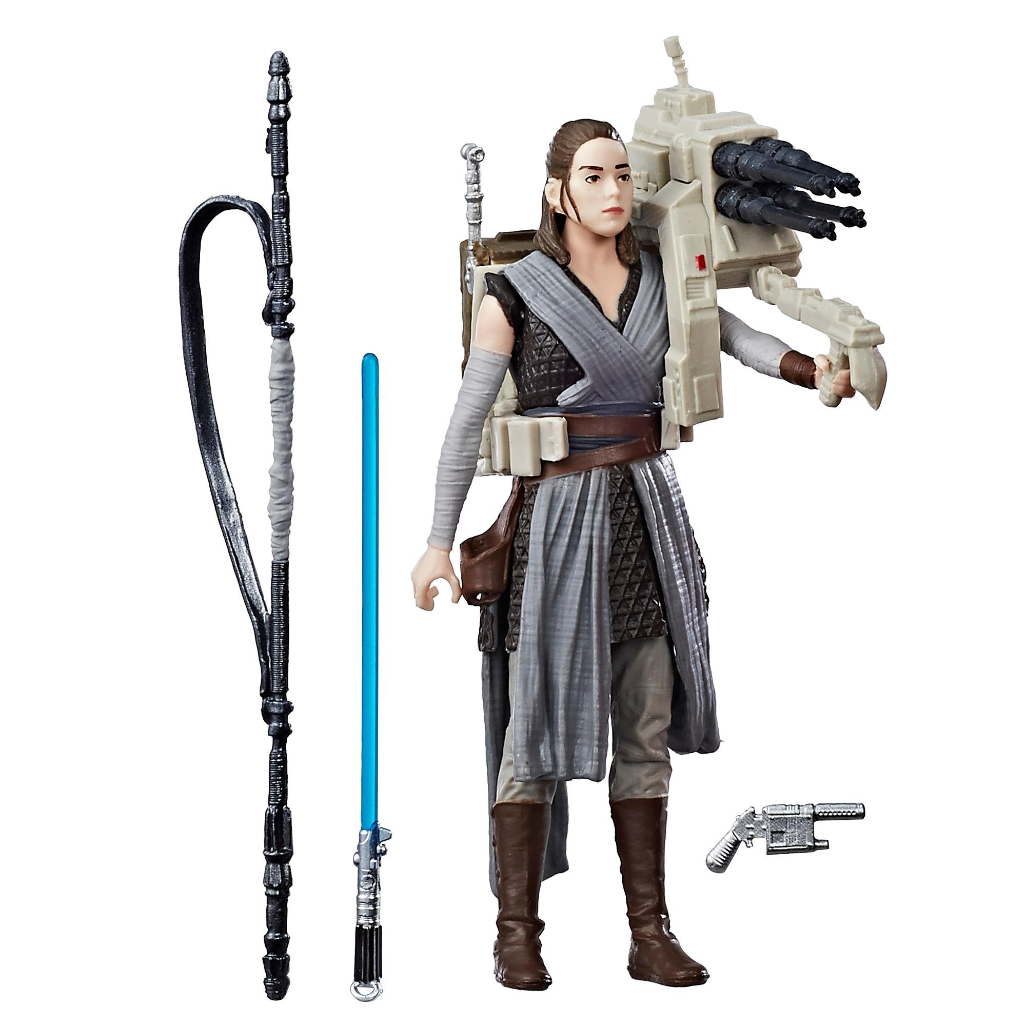 Kit Duplo Star Wars Rey (Treinamento Jedi) e guarda pretoriano de elite