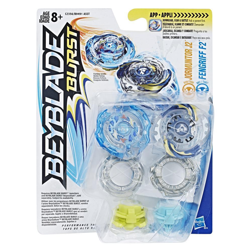 Beyblade Burst Kit Duplo - Jormuntor J2 e Fengriff F2