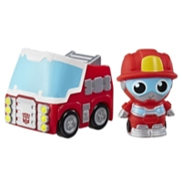 Playskool Amigos Transformadores Heatwave o Fogo-Bot Hide 'n Roll Out Veículo