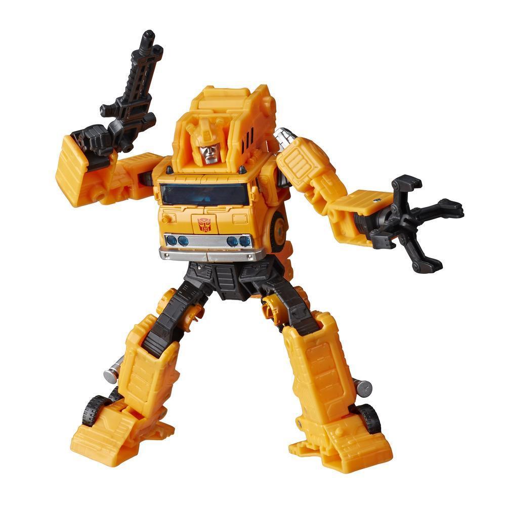 Transformers Generations War for Cybertron: Earthrise Voyager - Figura de 17,5 cm WFC-E10 Autobot Grapple para crianças acima de 8 anos