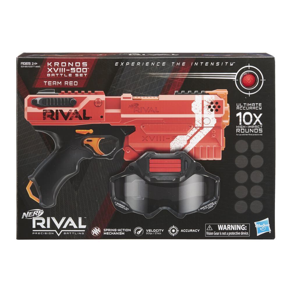 Kit de Aventura Nerf Rival Kronos XVIII-500 (vermelho)