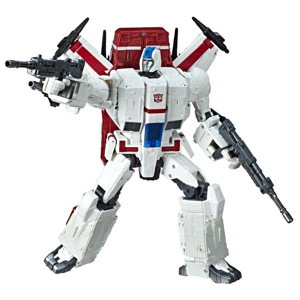 Brinquedos Transformers Generations - War for Cybertron - Figura Commander WFC-S28 Jetfire - Linha Siege - Adultos e Crianças Acima de 8 anos - 28 cm