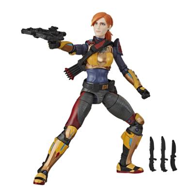 Contém: G.I. JOE Classified Series Scarlett Figura Brinquedo com múltiplos acessórios