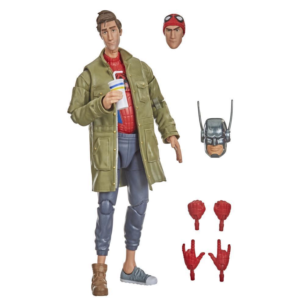 Hasbro Marvel Legends Series Spider-Man: Into the Spider-Verse Peter B. Parker 15 cm Figura Brinquedo para Crianças a partir dos 4 Anos
