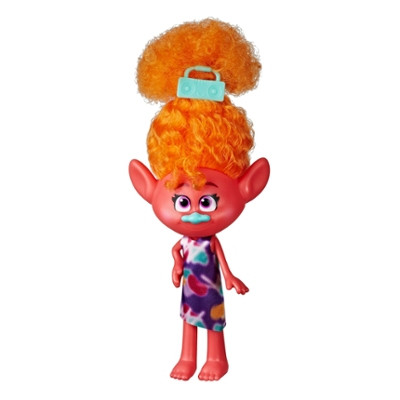 DreamWorks Trolls DJ Suki no Estilo com vestido removível e acessório de cabelo, com inspiração no filme Trolls World Tour